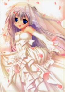 Rating: Safe Score: 89 Tags: chikotam dress koi_imo_sweet_days parasol wedding_dress yachiho_aoi User: fireattack