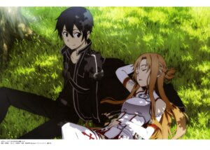Rating: Safe Score: 29 Tags: armor asuna_(sword_art_online) kirito sword_art_online thighhighs yoshino_shin'ichi User: drop