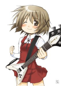 Rating: Safe Score: 9 Tags: guitar hidamari_sketch seifuku taisa yuno User: Radioactive