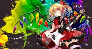 Rating: Safe Score: 23 Tags: dress flandre_scarlet guitar kuro_(pixiv213382) lolita_fashion thighhighs touhou wings User: Mr_GT