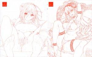 Rating: Questionable Score: 9 Tags: mikuni_mizuki monochrome redrop sketch User: 8mine8