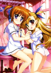Rating: Questionable Score: 62 Tags: bottomless dress fujima_takuya heterochromia mahou_shoujo_lyrical_nanoha mahou_shoujo_lyrical_nanoha_vivid seifuku takamachi_nanoha undressing vivio User: drop
