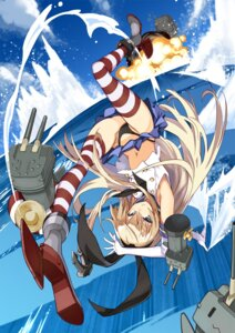 Rating: Questionable Score: 39 Tags: kantai_collection pantsu rensouhou-chan shimakaze_(kancolle) thighhighs ushiki_yoshitaka User: animeprincess