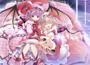 Rating: Safe Score: 33 Tags: flandre_scarlet remilia_scarlet touhou wings yakumo_shibata User: 椎名深夏