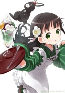 Rating: Safe Score: 38 Tags: anko_(gochuumon_wa_usagi_desuka?) gochuumon_wa_usagi_desu_ka? heels kimono ujimatsu_chiya waitress waki_(pixiv2609622) User: Mr_GT