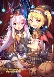 Rating: Safe Score: 55 Tags: animal_ears aura_kingdom bunny_ears cleavage dress halloween heels shennai_misha thighhighs wings witch User: Mr_GT