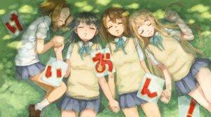 Rating: Safe Score: 9 Tags: akiyama_mio hirasawa_yui k-on! kotobuki_tsumugi kurage seifuku tainaka_ritsu User: yumichi-sama