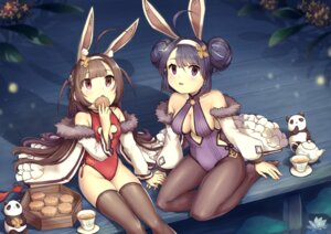 Rating: Safe Score: 11 Tags: animal_ears azur_lane breast_hold bunny_ears bunny_girl cleavage ning_hai_(azur_lane) no_bra pantyhose ping_hai_(azur_lane) sahara1127 thighhighs User: Mr_GT