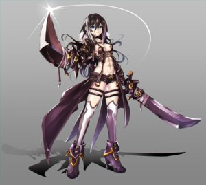 Rating: Safe Score: 57 Tags: cleavage dio_uryyy heels no_bra sword thighhighs User: Mr_GT