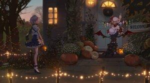 Rating: Safe Score: 24 Tags: flandre_scarlet halloween heels izayoi_sakuya kezhou maid remilia_scarlet touhou wings User: Dreista