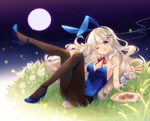 Rating: Safe Score: 55 Tags: animal_ears bunny_ears bunny_girl cleavage heels pantyhose shinia tail User: fairyren