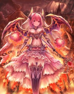 Rating: Safe Score: 36 Tags: armor cleavage horns lunacle thighhighs underboob weapon wings User: charunetra