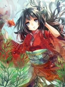 Rating: Safe Score: 33 Tags: japanese_clothes kimono minatsuki User: KazukiNanako