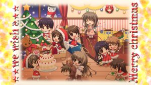 Rating: Safe Score: 6 Tags: chibi christmas l@ve_once maid_meets_cat wallpaper User: maurospider