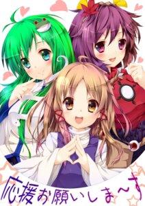 Rating: Safe Score: 24 Tags: kochiya_sanae moriya_suwako niro touhou yasaka_kanako User: fairyren