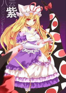 Rating: Safe Score: 16 Tags: cleavage cui_pi_cha_tu dress touhou umbrella yakumo_yukari User: Mr_GT