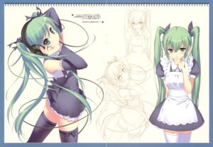 Rating: Safe Score: 74 Tags: crease dmyo fixme hatsune_miku headphones maid snow_ring thighhighs vocaloid User: midzki