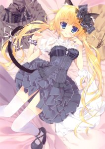 Rating: Questionable Score: 80 Tags: animal_ears dress nekomimi nopan tail thighhighs tsurusaki_takahiro User: WtfCakes