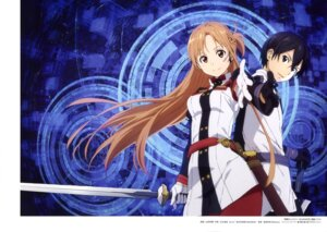 Rating: Safe Score: 20 Tags: asuna_(sword_art_online) kirito sword sword_art_online sword_art_online_ordinal_scale uniform yamada_yukei User: drop