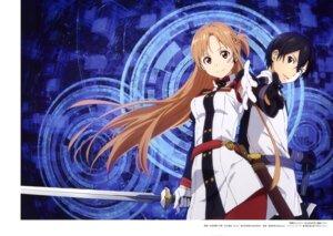 Rating: Safe Score: 17 Tags: asuna_(sword_art_online) kirito sword sword_art_online uniform yamada_yukei User: drop