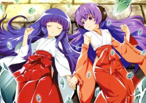 Rating: Safe Score: 24 Tags: furude_rika hanyuu higurashi_no_naku_koro_ni horns miko nakashima_guy User: drop
