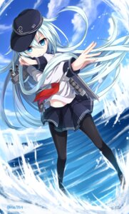 Rating: Safe Score: 58 Tags: hibiki_(kancolle) kantai_collection nikkunemu pantyhose seifuku User: Mr_GT