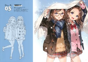 Rating: Safe Score: 29 Tags: ancotaku megane seifuku sentiment_color sketch sweater User: kiyoe