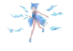 Rating: Questionable Score: 5 Tags: a+1 cirno dress pantsu shimapan touhou User: itsu-chan
