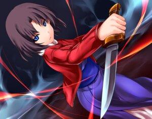 Rating: Safe Score: 17 Tags: kara_no_kyoukai kimono ryougi_shiki weapon yoshimo User: Radioactive