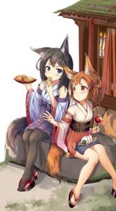 Rating: Safe Score: 34 Tags: animal_ears japanese_clothes pantyhose sakura_ani tail User: Mr_GT