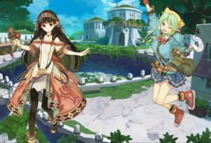 Rating: Safe Score: 34 Tags: atelier_shallie dress hidari koei_tecmo pantyhose shallistera_(atelier) shallotte_elminus weapon User: fireattack