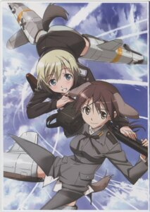 Rating: Questionable Score: 17 Tags: animal_ears erica_hartmann gertrud_barkhorn gun strike_witches tail takamura_kazuhiro uniform User: Arilando