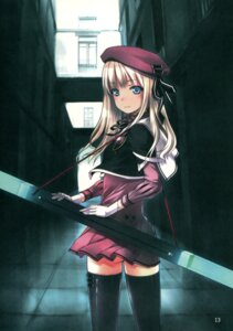 Rating: Questionable Score: 51 Tags: noantica ooji paper_texture thighhighs User: midzki