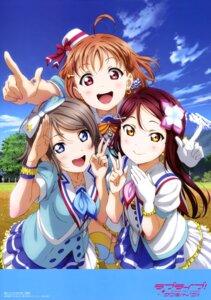 Rating: Safe Score: 69 Tags: love_live!_sunshine!! murota_yuuhei sakurauchi_riko takami_chika thighhighs watanabe_you User: drop