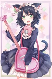 Rating: Safe Score: 34 Tags: animal_ears cyan_(show_by_rock!!) dress guitar karumayu nekomimi show_by_rock!! tail User: KazukiNanako