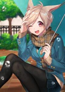 Rating: Safe Score: 15 Tags: animal_ears final_fantasy final_fantasy_xiv miqo'te pantyhose sakura_chiyo_(konachi000) seifuku sweater umbrella User: Mr_GT