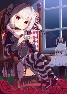 Rating: Safe Score: 50 Tags: dress gothic_lolita hapymaher lolita_fashion muku-coffee naitou_maia stockings thighhighs User: Mr_GT