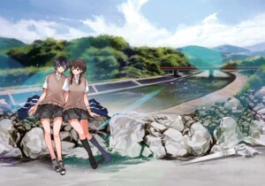 Rating: Safe Score: 19 Tags: chris landscape seifuku yuri User: animeprincess