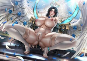 Rating: Explicit Score: 18 Tags: lexaiduer nipples pantsu pussy thighhighs thong topless uncensored wings User: lushp