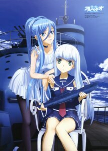 Rating: Safe Score: 71 Tags: aoki_hagane_no_arpeggio bike_shorts dress i-401 iona matsuura_hiroki mecha pantyhose summer_dress takao_(aoki_hagane_no_arpeggio) uniform User: drop