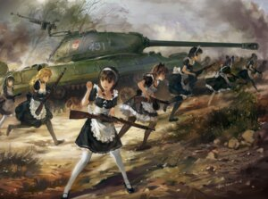 Rating: Safe Score: 79 Tags: cleavage gun hjl maid thighhighs User: Radioactive