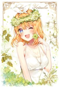 Rating: Safe Score: 39 Tags: 5-toubun_no_hanayome cleavage dress nakano_yotsuba see_through summer_dress taya_5323203 User: kiyoe