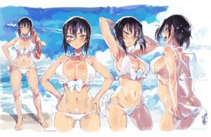 Rating: Questionable Score: 46 Tags: ass ass_grab bikini cameltoe cleavage erect_nipples expression girls_und_panzer kawashima_momo megane panty_pull swimsuits tagme wardrobe_malfunction wet User: NotRadioactiveHonest
