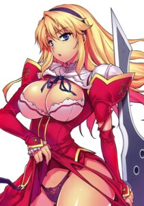 Rating: Questionable Score: 75 Tags: cleavage dress freezing kim_kwang-hyun pantsu satellizer_el_bridget skirt_lift torn_clothes weapon User: Radioactive