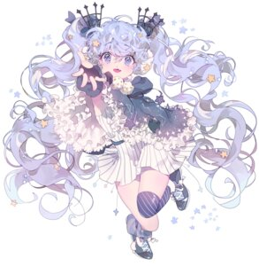 Rating: Safe Score: 28 Tags: dress fuyu_no_yoru_miku inhye thighhighs vocaloid User: charunetra
