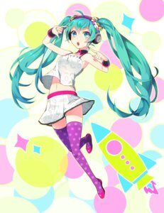 Rating: Safe Score: 52 Tags: hatsune_miku headphones thighhighs tyuh vocaloid User: 23yAyuMe
