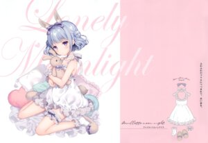 Rating: Questionable Score: 29 Tags: animal_ears bunny_ears dress garter tail w.label wasabi_(artist) User: Radioactive