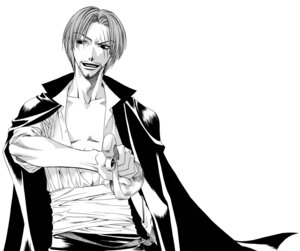 Rating: Safe Score: 2 Tags: male monochrome nakajou_hisaya one_piece shanks User: Radioactive