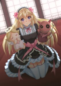 Rating: Safe Score: 38 Tags: dress gothic_lolita lolita_fashion oxxo_(dlengur) stockings thighhighs User: KazukiNanako
