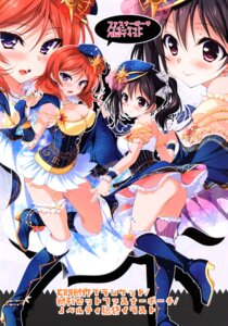Rating: Questionable Score: 45 Tags: ass cleavage garter heels love_live! ninoko ninokoya nishikino_maki nopan thighhighs yazawa_nico User: tianshao008